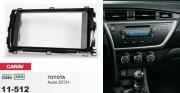 Переходная рамка Carav 11-512 Toyota Auris 2013+, 2DIN