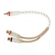 Межблочный кабель двойная изоляция Kicx FRCA02Y (0,25м)