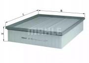 Воздушный фильтр KNECHT LX5111