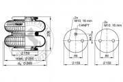Пневмоподушка CONTITECH AIR SPRING FD200-19 1/4 M10