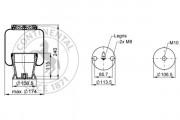 Пневмоподушка CONTITECH AIR SPRING SZ135-19