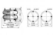 Пневмоподушка CONTITECH AIR SPRING FD210-22 1/2 M10