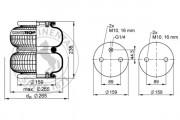 Пневмоподушка CONTITECH AIR SPRING FD200-22 1/4 M10