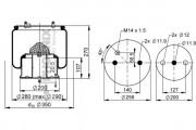 Пневмоподушка PHOENIX 1 DF 23 B-2