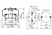 Пневмоподушка PHOENIX 1 DF 23 B-3