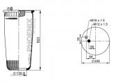 Пневмоподушка PHOENIX 1 DF 19 B-1 NP