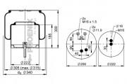 Пневмоподушка PHOENIX 1 DF 23 G-1