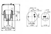 Пневмоподушка PHOENIX 1 DF 17 B-2