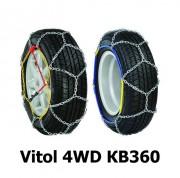 Цепи противоскольжения Vitol 4WD КВ360 для колес R14, R15