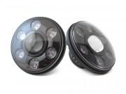Би-светодиодные LED фары 7'' (ближний / дальний свет + DRL)