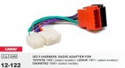 Переходник / адаптер ISO Carav 12-122 для Toyota 1984+ / Lexus 1991+ / Daihatsu 1985+