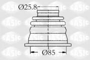 Пыльник ШРУС SASIC 4003408