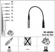 Комплект высоковольтных проводов зажигания RC-AD204 NGK 0504