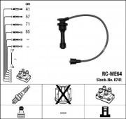 Комплект высоковольтных проводов зажигания RC-ME64 NGK 8741