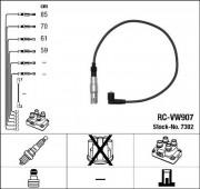 Комплект высоковольтных проводов зажигания RC-VW907 NGK 7302