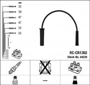 Комплект высоковольтных проводов зажигания RC-CR1302 NGK 44229