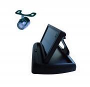 Система видеопарковки: Складной 4,3'' монитор и камера заднего вида Prime-X M-036 plus