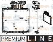 Радиатор охлаждения двигателя HELLA 8MK376 721-681