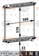 Радиатор охлаждения двигателя HELLA 8MK376 721-721
