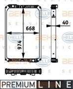 Радиатор охлаждения двигателя HELLA 8MK376 722-021