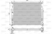 Радиатор охлаждения двигателя VALEO 701569