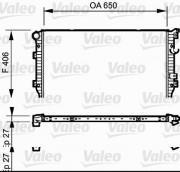 Радиатор охлаждения двигателя VALEO 735133