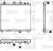 Радиатор охлаждения двигателя VALEO 735618