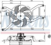 Вентилятор охлаждения радиатора NISSENS 85709