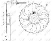 Вентилятор охлаждения радиатора NRF 47392