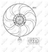 Вентилятор охлаждения радиатора NRF 47375