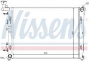 Радиатор охлаждения двигателя NISSENS 67076