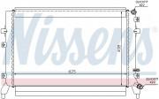 Радиатор охлаждения двигателя NISSENS 65294