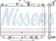 Радиатор охлаждения двигателя NISSENS 606544