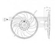 Вентилятор охлаждения радиатора TYC 837-0037