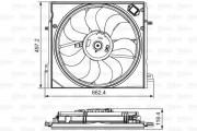 Вентилятор охлаждения радиатора VALEO 696583