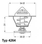 Термостат WAHLER 4264.84D