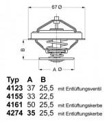 Термостат WAHLER 4123.80D