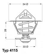Термостат WAHLER 4115.92D