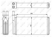 Радиатор печки NRF 54243