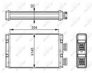 Радиатор печки NRF 54295