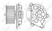 Вентилятор салона NRF 34156