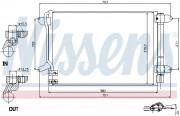 Радіатор кондиціонера NISSENS 940238