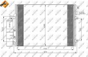 Радиатор кондиционера NRF 35430