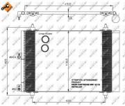 Радиатор кондиционера NRF 35843