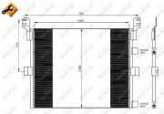 Радиатор кондиционера NRF 35788