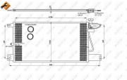 Радиатор кондиционера NRF 35790