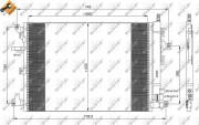 Радиатор кондиционера NRF 35889