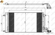 Радиатор кондиционера NRF 35910