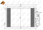 Радиатор кондиционера NRF 35929