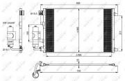 Радиатор кондиционера NRF 35973